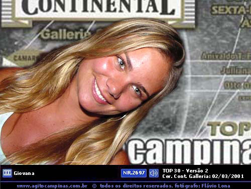 Local: Agito Brasil - top30 - V2 nr_2697 Data:02/03/2001 Fotografo: